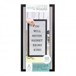 Tablero letterboard. 25x50. Negro y blanco