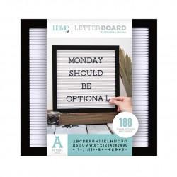 Tablero letterboard. 30x30. Negro y blanco