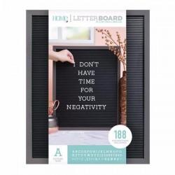 Tablero letterboard. 40x50. Gris y negro