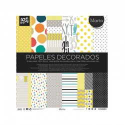 SET PAPELES DECORADOS SCRAP 305X305. MARTA