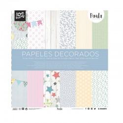 SET PAPELES DECORADOS SCRAP 305X305. PAULA