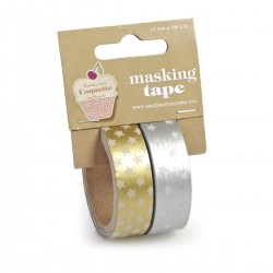 SET 2 WASHI TAPE PLATA/ORO