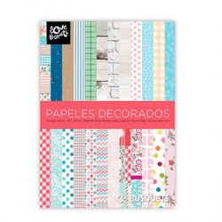 SET PAPELES DECORADOS SCRAP 200x275