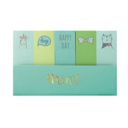 MINI NOTAS ADHESIVAS. MINT