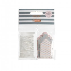 PACK ETIQUETAS + CORDON ROSE GREY