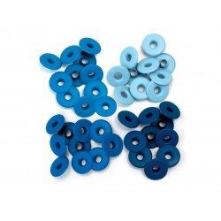 OJALES ALUMINIO AZUL WIDE. 13MM. 40UD