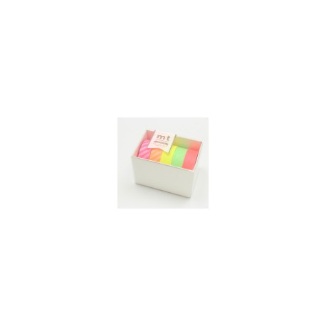 Washi Tape. Gift box Neon. Pack 5. MT